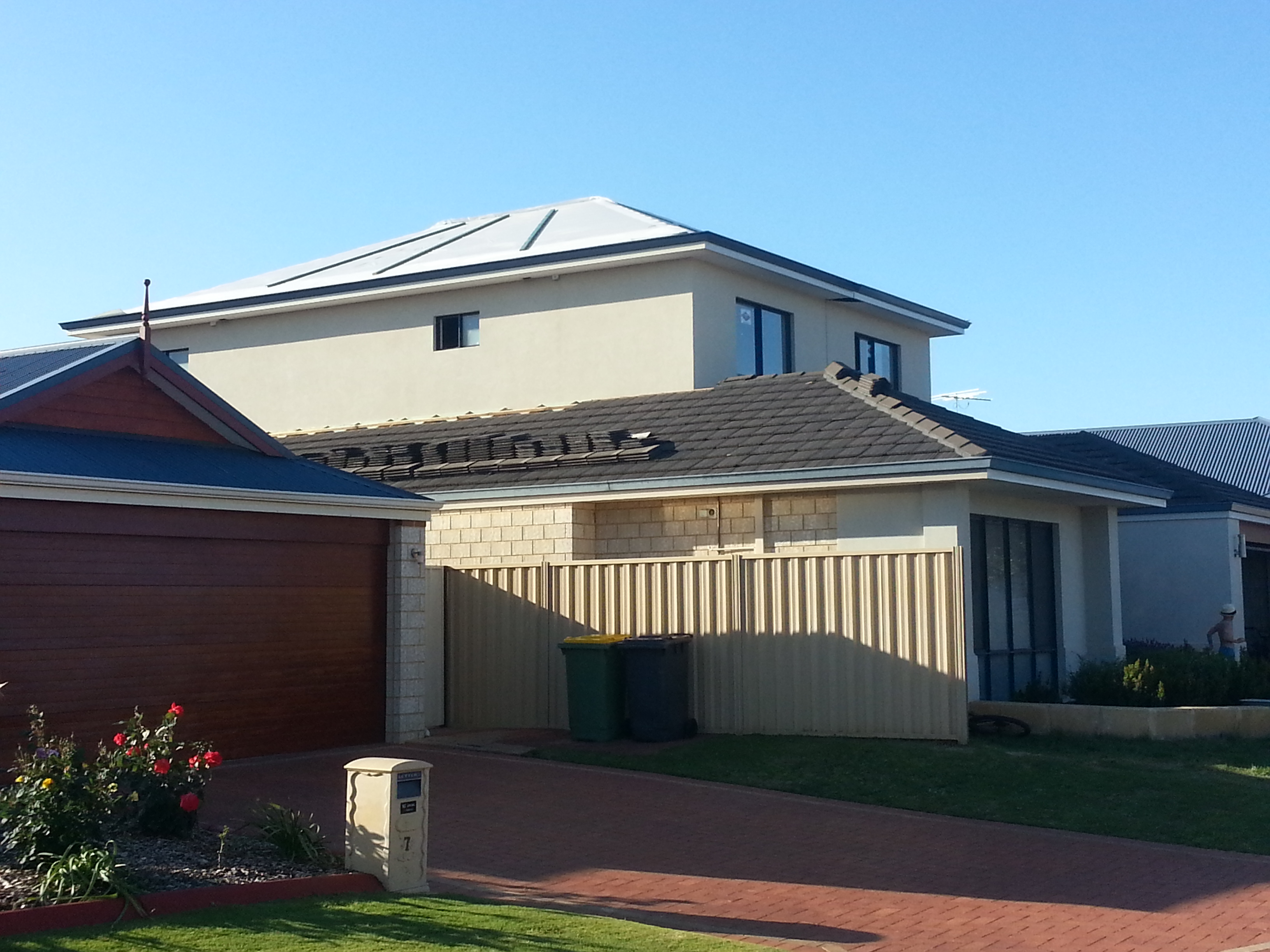 Second story addition ready for roof tiles Perth